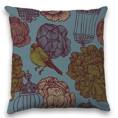The Natural Collection - Twilight Bird, Cushion, 43x43cm