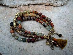 Bohemian Jewelry / Bohemian Bracelet / Gypsy Bracelet by Syrena56