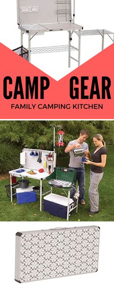 You can literally take the kitchen sink to the campsite with a Coleman Pack-Away Deluxe Kitchen. This portable camping kitchen is must-have camping gear for any family camping trip!