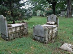 Artists Lisa Osborn and Danielle Kremer 'Resting Benches', Forest Hill Cemetary