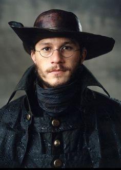 Heath Ledger as Jacob Grimm Colleen Atwood, Heath Bars, Heath Legder, Heath Ledger Joker, Hunks Men, Australian Actors, Brothers Grimm, Music Tv, Character Inspiration