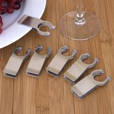Wine Glass Plate Clips - the end to the problem of holding your plate and wine glass at the same time