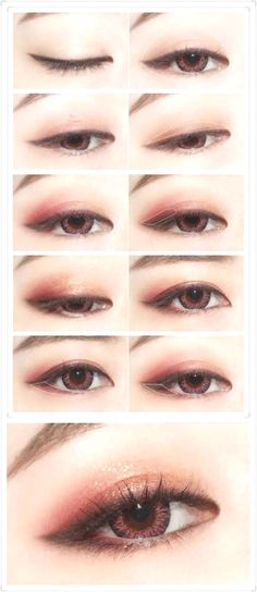 Korean makeup tutorials, The building blocks beneath the makeup cap can be used as a concealer. If you're out of concealer, use what's under the cap in your bottle of foundation. This makeup can help Korean Makeup Look, Korean Makeup Tips, Asian Eye Makeup, Korean Makeup Tutorials, Ulzzang Makeup Tutorial, Kawaii Makeup Tutorial, Korean Wedding Makeup, Eyeshadow Tutorials, Korean Makeup Ulzzang