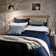 Still Plain Bed Linen in Navy