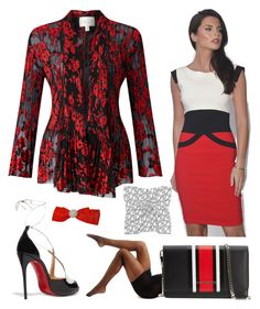 """Black, White, Red"" by belladonnasjoy ❤ liked on Polyvore featuring Berkshire, EAST, Givenchy, Christian Louboutin, contest and contestentry"