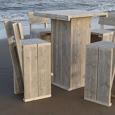 #PALLETS: Pallet outdoor furniture (table & chairs) http://dunway.info/pallets/index.html