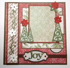 Joy Christmas Layout with Close to My Heart CTMH Art Philosophy!