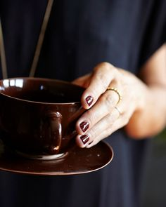 A CUP OF JO: Oxblood red nails (hate the name, love the color)