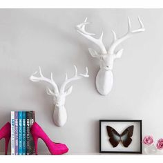 The Magic Of The Scandi Forest Is Beautifully Captured In This Large Wall  Mounted White Deer Head, Which Will Add A Shimmer Of Opulence And Some Fuu2026