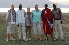 Sundowners with the ChemChem team at Lake Manyara.