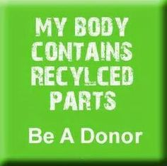 An angel gave me life. You can be an angel too. Be an organ donor.