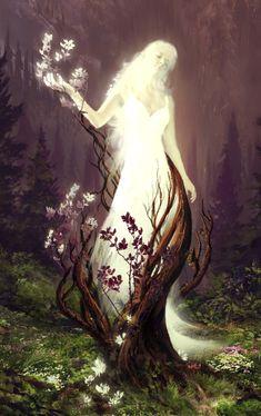 "megarah-moon: "" ""The Sleeping Green - Vaipuminen"" by Julian Bauer "" Foto Fantasy, Fantasy Kunst, Fantasy World, Fantasy Inspiration, Character Inspiration, Character Art, Images Esthétiques, Fairy Art, Fantasy Artwork"
