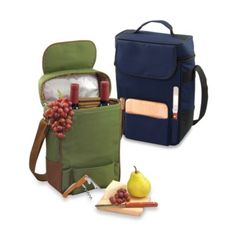 Picnic Time® Duet Insulated Wine and Cheese Tote - BedBathandBeyond.com