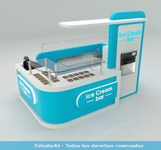 Islas para centro comercial - modulos comerciales - Estudio4d - Bogotá - Colombia Phone Store, Exhibition Stand Design, Cafe Design, Booth Design, Restaurant Design, Yogurt, Retail, Home Decor, Totem Poles