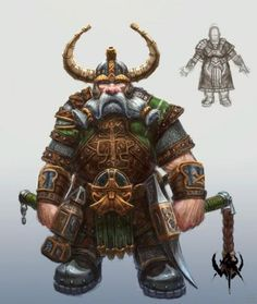 uploaded in Warhammer Online: Fantasy Dwarf, Fantasy Warrior, Fantasy Rpg, Medieval Fantasy, Dungeons And Dragons Characters, Dnd Characters, Fantasy Characters, Dnd Dwarf, Character Portraits