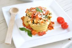 Easy Individual Lasagna Cups from Town and Country Living