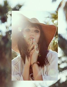 Top off your summer look with a wide brim floppy hat - #boho vibes