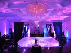 The dance floor and lounge area really finish the room and make you feel as if you're at a night club