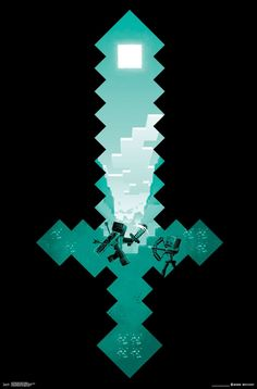 Minecraft Poster Print Diamond Sword Wall Fight Video Game for sale online Minecraft Posters, Minecraft Banner Designs, Minecraft Pictures, Minecraft Banners, Minecraft Creations, Poster S, Poster Wall, Poster Prints, Game Wallpaper Iphone