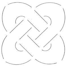 Quilt mal - Keltische Knoop - 13.3 cm - Celtic Knot