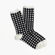 J.Crew+-+Gingham+ankle+socks