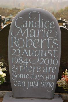 Bespoke Slate Headstone in Pebble Shape | Gallery | Fergus Wessel;   Beautiful Headstone!