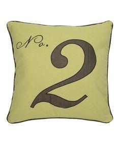 Look at this #zulilyfind! Black & Green 'No. 2' Throw Pillow by Levtex Home #zulilyfinds
