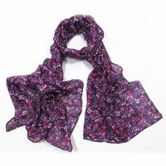 ladies scarf Zahana design scarves shawls wrap neck soft fashion Floral Flower