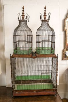 Birdcage | From a unique collection of antique and modern bird cages at https://www.1stdibs.com/furniture/more-furniture-collectibles/bird-cages/