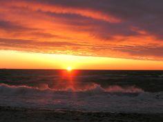 Ajstrup strand en tidlig morgen