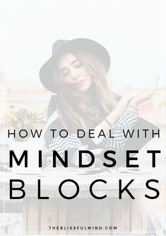 Do you talk yourself out of doing the things you'd love to do? Does you need a mindset makeover? Here's how to overcome your biggest mindset blocks and take action towards your ideal life! Change Your Mindset, Success Mindset, Positive Mindset, Growth Mindset, Body Positive, Self Development, Personal Development, Affirmations, Entrepreneur