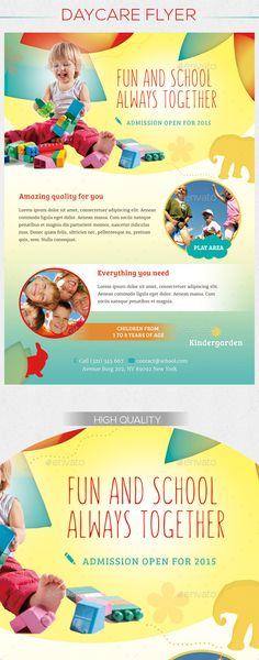 Daycare Flyer Templates - Flyers - 1 Open Minds Pinterest - daycare flyer template