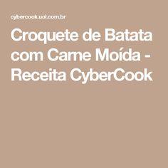 Croquete de Batata com Carne Moída - Receita CyberCook