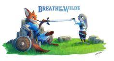 Zootopia x Zelda Judy Hops, Character Art, Character Design, Princess Toadstool, Zootopia Art, Fanart, Nick And Judy, Breath Of The Wild, Super Smash Bros