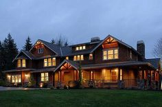 Plan 23180JD: Luxury Dream Craftsman House Plan with Options (only wish it was either more rustic or more Craftsman!! But I know I could always change or redesign.)
