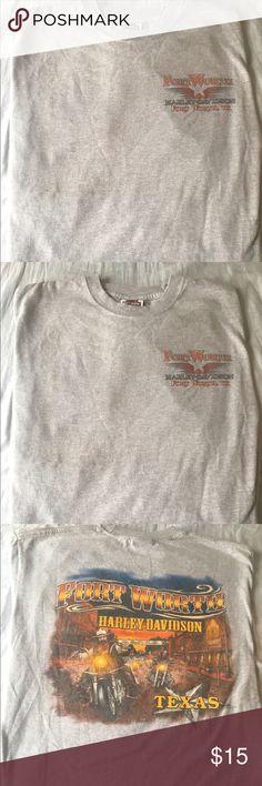 Harley Davidson Fort Worth, TX, Grey,  L, T-shirt Harley Davidson Fort Worth, TX, Grey,  Large, Short Sleeve T-shirt Harley-Davidson Shirts Tees - Short Sleeve