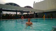 Swimming at Aston Suites Kuningan, Jakarta