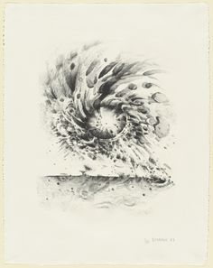 "Lee Bontecou. Third Stone. 1963. Lithograph. composition: 17 1/16 x 13 9/16"" (43.3 x 34.5 cm); sheet: 25 9/16 x 19 3/4"" (64.9 x 50.2 cm). Universal Limited Art Editions, West Islip, New York. Universal Limited Art Editions, West Islip, New York. 28. Gift of the Celeste and Armand Bartos Foundation. 221.1963. © 2017 Lee Bontecou. Drawings and Prints"