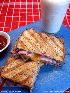 The Dutch Table: Tosti Hawaii (Grilled Ham and Cheese Sandwich with Pineapple)