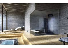 Installing Glass Shower Wall Panels — Porch and Chimney Ever Saunas, Concrete Wall Panels, Modern Bathrooms Interior, Modern Interiors, Walk In Shower Designs, Bathroom Designs, Shower Wall Panels, Shower Cabin, Sauna Room