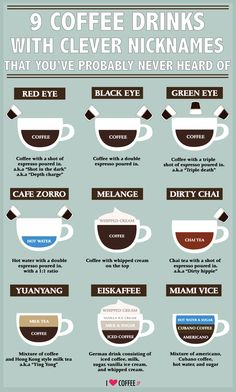 9 coffee drinks with clever nicknames that you've probably never heard of - I Love Coffee