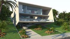 Casa em aclive