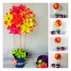 Topiario de flores de papel (kusudamas) en la Comunidad de Manualidades - Hogarutil.com
