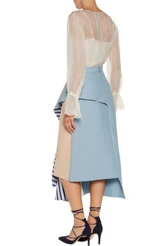 Shop on-sale Roksanda Draped paneled faille midi skirt. Browse other discount designer Skirts & more on The Most Fashionable Fashion Outlet, THE OUTNET.COM