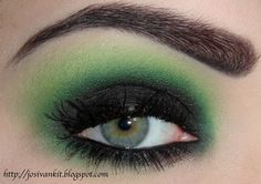 Gorgeous green #smokey #eye #makeup