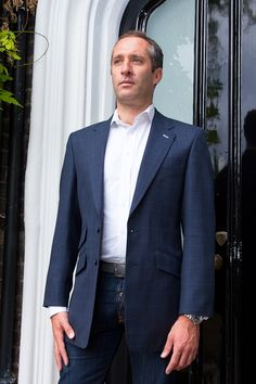 Henry Herbert Bespoke Suit Oliver Wilkinson Fit for a Prince. Prince of Wales sports jacket.....