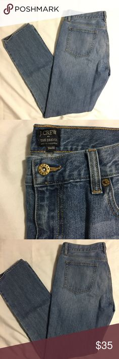 J Crew Jeans Light Wash (34W x 32L) J Crew Jeans in excellent condition!  No stains, holes, or fray!            All products* sold by super22saver55 are pre-washed using Tide Pods, Downy Unstoppables, and Oxygen Orange for your convenience.  *Not including NWT products, products made of wool or sports wear.  *Sports wear products are washed with detergent and vinegar or baking soda. J. Crew Jeans Straight