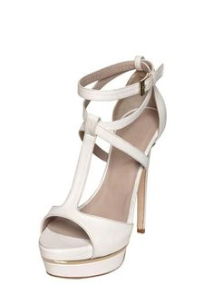 #FSJshoes - #FSJ Shoes Lillian White T-strap Sandals - AdoreWe.com