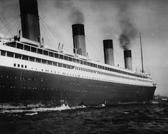 RMS Olympic...the paucity of lifeboats suggests this picture was definitely before her more-famous sister ship Titanic sank.