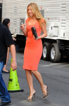 Blake orange dress